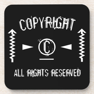Copyright Symbol All Rights Reserved With Arrows Coaster