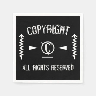 Copyright Symbol All Rights Reserved With Arrows Disposable Napkins