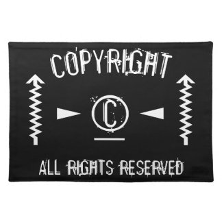 Copyright Symbol All Rights Reserved With Arrows Placemat