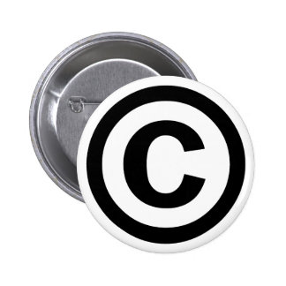 Copyright Symbol Copyrighted Copy Right Icon Sign 2 Inch Round Button