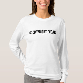 Copyright Year Personalized T-Shirt