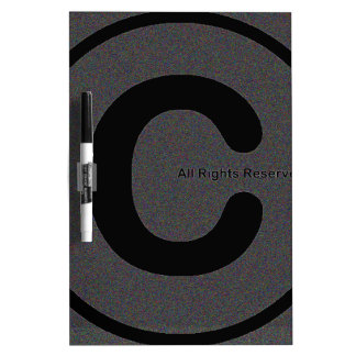 Copyright your stuff #2 Dry-Erase board