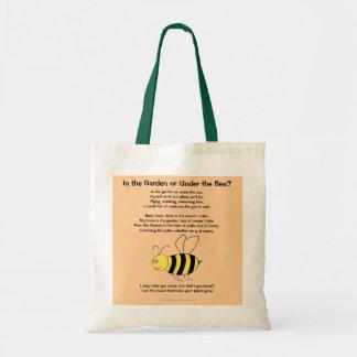 copyrightinsert, abeille, dans le jardin ou sous sac en toile budget