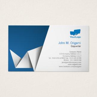 Copywriter Business Card Origami Folds