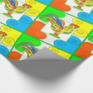 "COQ CHICKEN 30"" x 15'    CARTOON WrappingPaper"