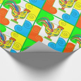 "COQ CHICKEN 30"" x 30'    CARTOON WrappingPaper"