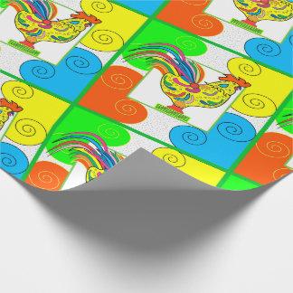 "COQ CHICKEN 30"" x 45'   CARTOON WrappingPaper MATT"