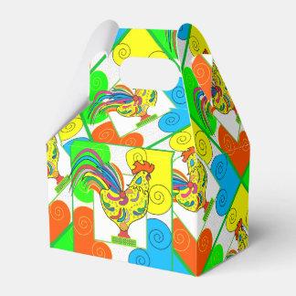 COQ CHICKEN CARTOON Gable Favor Box