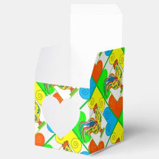 COQ CHICKEN CARTOON Heart 2x2 Party Favor Box