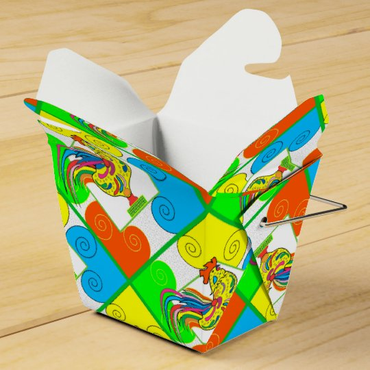 COQ CHICKEN CARTOON Take Out Favour Box Favor Boxes