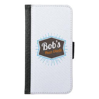 Coque Avec Portefeuille Pour Galaxy S6 Votre plaisanterie d'oncle Funny Man Named Bob de