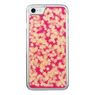 Coque Carved iPhone 8/7 Étoiles roses au néon de jaune de crème de citron