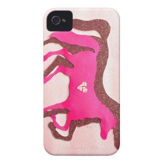 Coque Case-Mate iPhone 4 Cas rose de l'iPhone 4/4S de cheval conçu par main