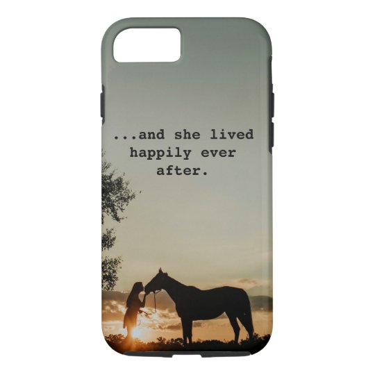 Coque Case-Mate Pour iPhone Fille embrassant le cheval elle a vécu
