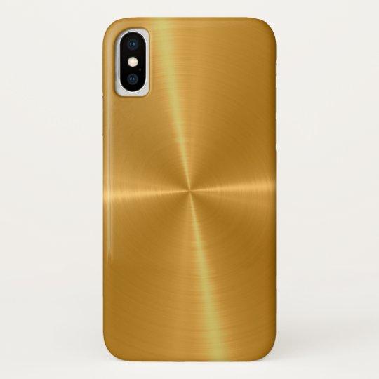Coque Case-Mate Pour iPhone Métal brillant d'acier inoxydable d'or