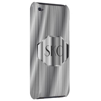 Coque-Compagnon décoré d'un monogramme argenté d'a Étui iPod Touch