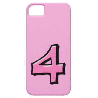 Coque-Compagnon rose de l'iPhone 5 du numéro 4 Étuis iPhone 5
