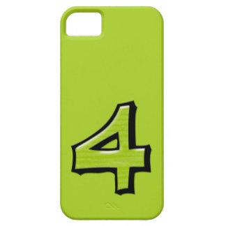 Coque-Compagnon vert de l'iPhone 5 du numéro 4 Étui iPhone 5