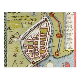 Coque, détail de la carte des équitations du nord carte postale