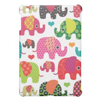 Coque ipad coloré de motif d'enfants d'éléphant