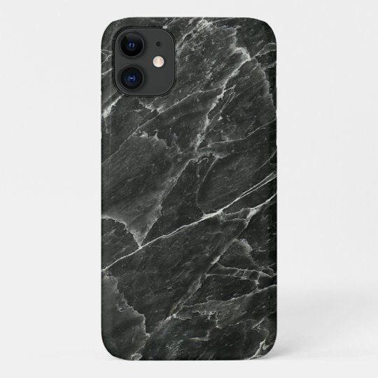 Coque iPhone 11 Caisse noire de l'iPhone 5/5S de marbre à peine là
