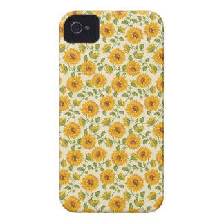 Coque iPhone 4 Case-Mate Beau motif jaune de tournesols d'été