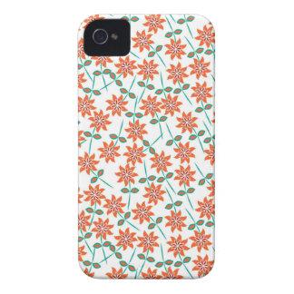 Coque iPhone 4 Case-Mate Lis Rouge-oranges gentils de couleur. Girly