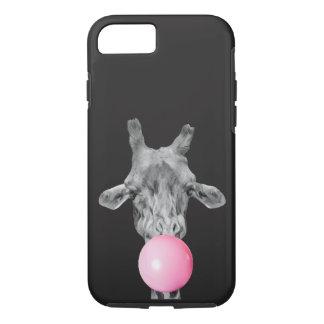 Coque iPhone 7 giraffe bubble
