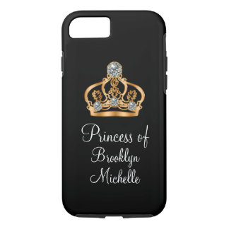 Coque iPhone 7 Princesse drôle Girly chique Crown de Bling