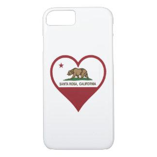 Coque iPhone 8/7 Cas de téléphone d'amour de Santa Rosa