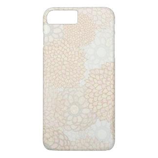Coque iPhone 8 Plus/7 Plus Conception d'éclat d'argile et de fleur de Tan