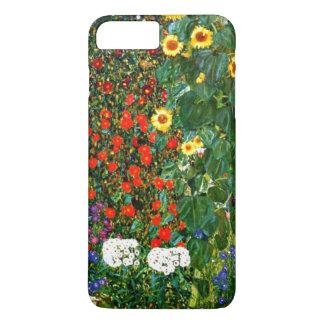 Coque iPhone 8 Plus/7 Plus Klimt - jardin de ferme avec des tournesols