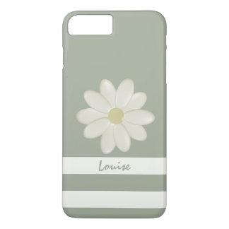 Coque iPhone 8 Plus/7 Plus La crème de fleur de marguerite barre la sauge