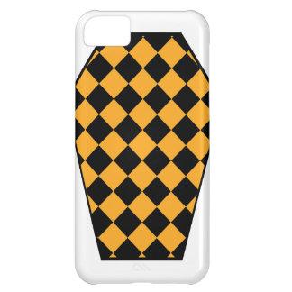 Coque iphone (ambre) de bois d'ébène de Damier Coque iPhone 5C
