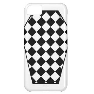 Coque iphone (blanc) de bois d'ébène de Damier Coque iPhone 5C