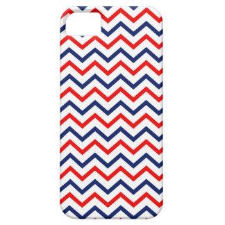 Coque iphone blanc des Etats-Unis et bleu rouge de Étui iPhone 5