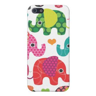 Coque iphone coloré de motif d'enfants d'éléphant coques iPhone 5