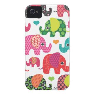 Coque iphone coloré de motif d'enfants d'éléphant coque iPhone 4