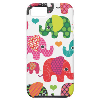 Coque iphone coloré de motif d'enfants d'éléphant coque iPhone 5 Case-Mate