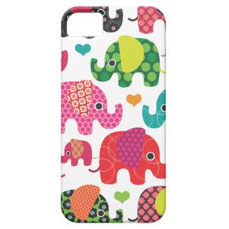 Coque iphone coloré de motif d'enfants d'éléphant étui iPhone 5
