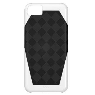 Coque iphone de bois d'ébène de Damier (charbon de Coque iPhone 5C