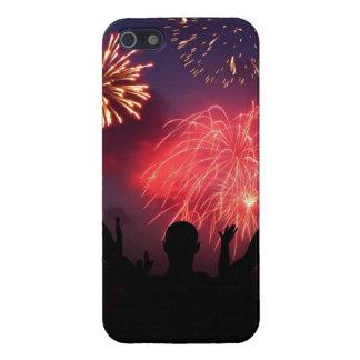 Coque iphone de célébration de feux d'artifice étui iPhone 5