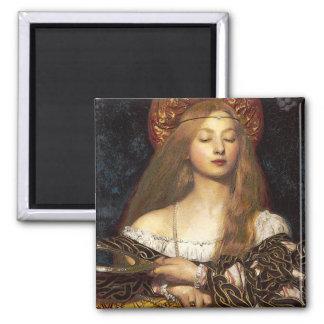Coque iphone de femme de Pre-Raphaelite de vanité Magnet Carré