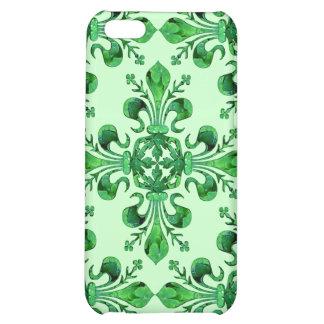 Coque iphone de Fleur de lis de St Patrick Coque iPhone 5C