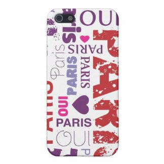 Coque iphone de t'aime de je d'Oui Paris iPhone 5 Case