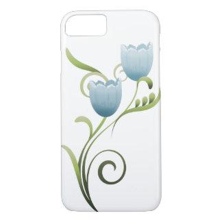 Coque iphone de tulipes bleues