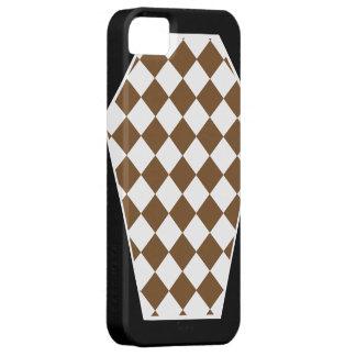 Coque iphone d'ivoire de Damier (Brown) Étui iPhone 5