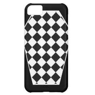 Coque iphone d'ivoire de Damier (charbon de bois) Coque iPhone 5C