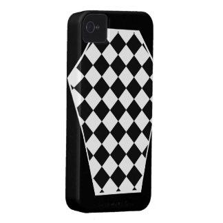 Coque iphone d'ivoire de Damier (charbon de bois) Coque iPhone 4