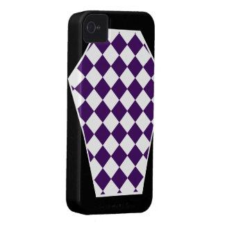 Coque iphone d'ivoire de Damier (indigo) Coques iPhone 4 Case-Mate